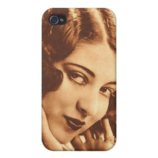 Vintage Retro Women Silent Film Star iPhone 4 Cover