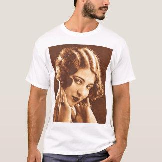 Vintage Retro Women Silent Film Star T-Shirt