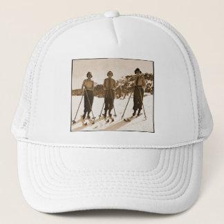 Vintage Retro Women Skiing 'Ski Bums 1942' Trucker Hat