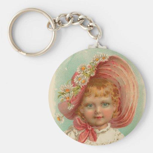 Vintage Retro Women Soaps & Perfumes Girl Keychains