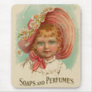 Vintage Retro Women Soaps & Perfumes Girl Mouse Pad