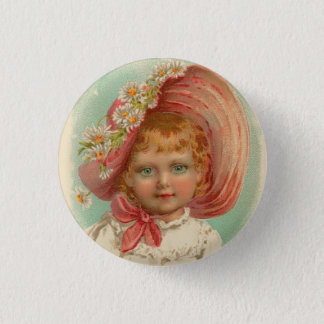 Vintage Retro Women Soaps & Perfumes Girl Pinback Button