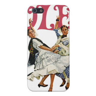 Vintage Retro Women Spainish Flamenco Dancers Ole! Covers For iPhone 5