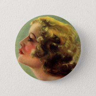 Vintage Retro Women Starlet Miriam Hopkins Button