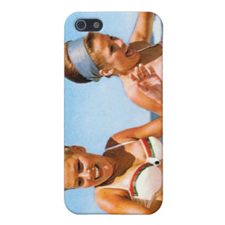 Vintage Retro Women Surfs Up Beach Girls Cover For iPhone SE/5/5s