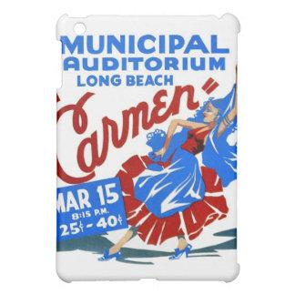 Vintage Retro Women Theater Carmen Opera Poster iPad Mini Covers