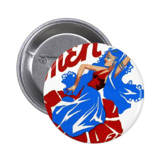 Vintage Retro Women Theater Carmen Opera Poster Pinback Button