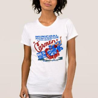 Vintage Retro Women Theater Carmen Opera Poster T-Shirt