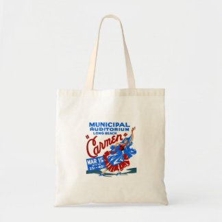 Vintage Retro Women Theater Carmen Opera Poster Tote Bag