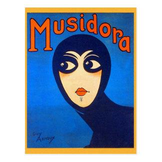 Vintage Retro Women Theater Musidora Jeanne Roques Postcard