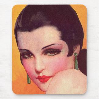 Vintage Retro Women Twenties Pin Up Vamp Mouse Pad