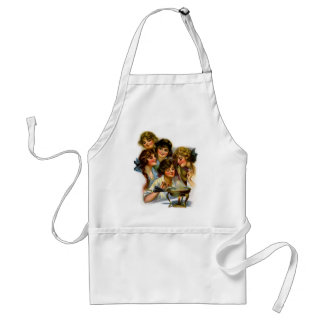 Vintage Retro Women Victorian Gibson Girl Girls Adult Apron