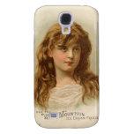 Vintage Retro Women White Mountain Ice Cream Girl Galaxy S4 Cases