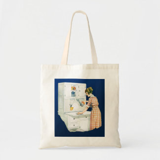 Vintage Retro Women Woman House Cleaning Tote Bag