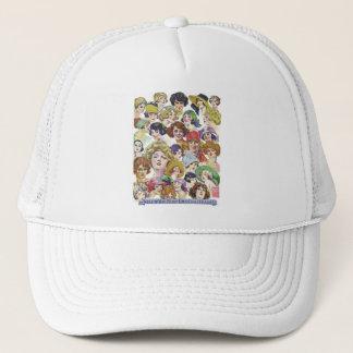 Vintage Retro Women Women''s Faces Illustration Trucker Hat