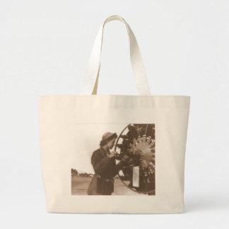 Vintage Retro Women Working in America USA Tote Bags