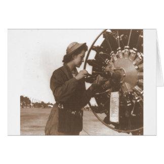 Vintage Retro Women Working in America USA Card