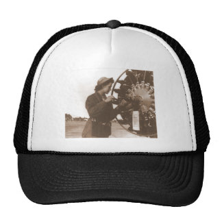 Vintage Retro Women Working in America USA Hat