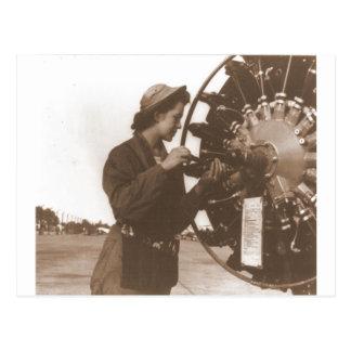 Vintage Retro Women Working in America USA Postcard