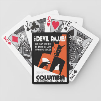 Vintage retro WPA The Devil theatre play Bicycle Playing Cards