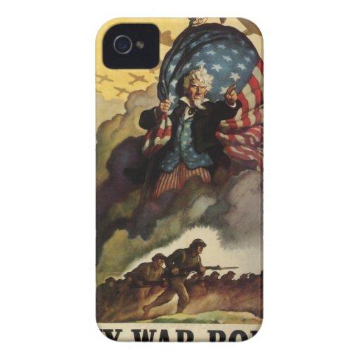 Vintage Retro WPA War Art Poster iPhone 4 Case