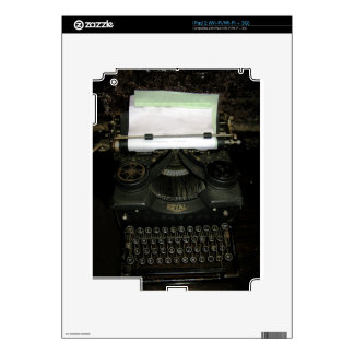 Vintage retro writing machine, typewriter decal for iPad 2