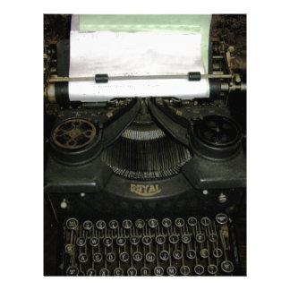 Vintage retro writing machine, typewriter letterhead