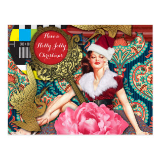 Vintage Retro Xmas Postcard