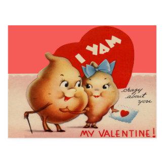 Vintage Retro Yam Valentine Card