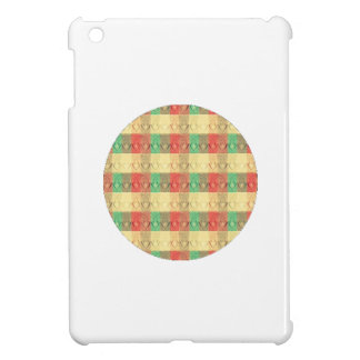 Vintage Retro Yellow Red Green Brown Square Shapes iPad Mini Covers