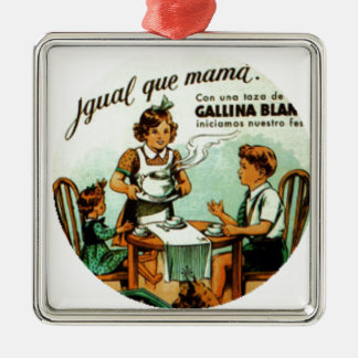 Vintage RetroCharm Old Soup Metal Ornament