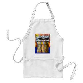 Vintage RetroKitsch Gambling Punch Board Candy Adult Apron