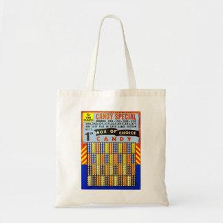 Vintage RetroKitsch Gambling Punch Board Candy Tote Bag