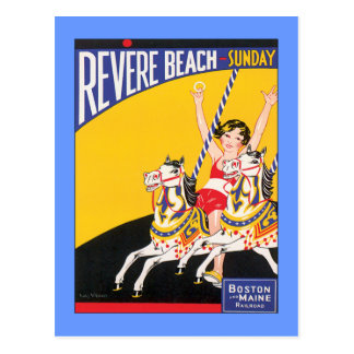 Vintage Revere Beach Boston Postcard