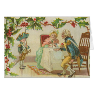 Vintage Revolutionary War Christmas Greeting Card