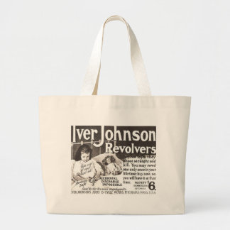 Vintage Revolver Ad  Don't Try This At Home Large Tote Bag