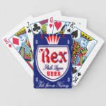 Vintage Rex Pale Lager Beer Playing Cards Bicycle Playing Cards