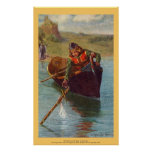 Vintage - rey Arturo - Excalibur vueltos Poster