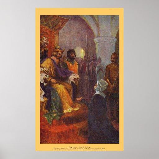 Vintage - rey Arturo - óigame oh rey Posters