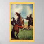 Vintage - rey Arturo - sir Lionel Falls Poster