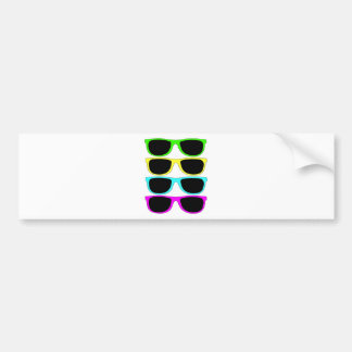 Vintage Rgb Fluo Sunglasses Bumper Sticker