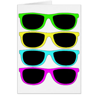 Vintage Rgb Fluo Sunglasses Card