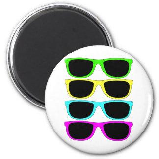 Vintage Rgb Fluo Sunglasses Magnet