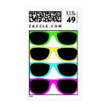 Vintage Rgb Fluo Sunglasses Postage Stamps