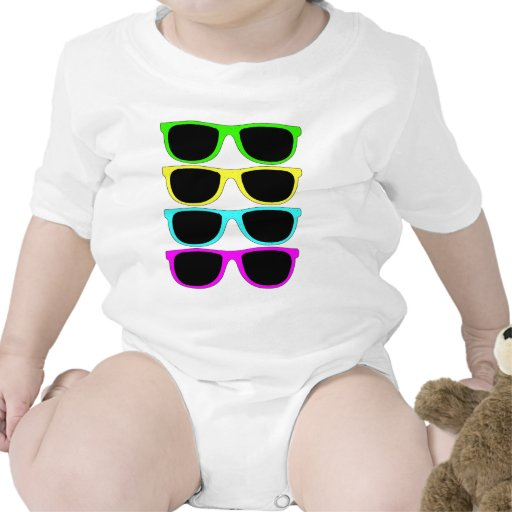 Vintage Rgb Fluo Sunglasses Tee Shirt