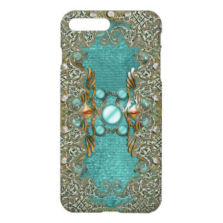 Vintage rhinestone gems etching girls iPhone 7 plus case