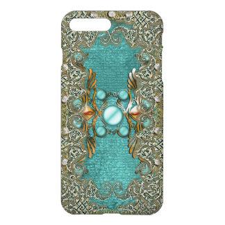 Vintage rhinestone gems etching girls iPhone 8 plus/7 plus case