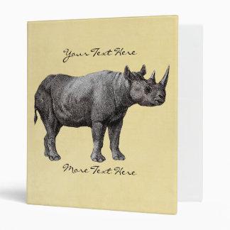 Vintage Rhino Binder