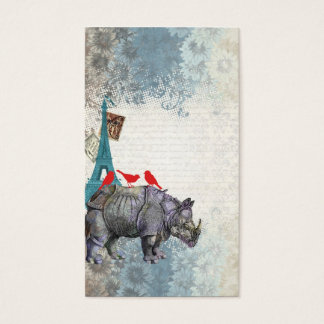 Vintage rhino business card