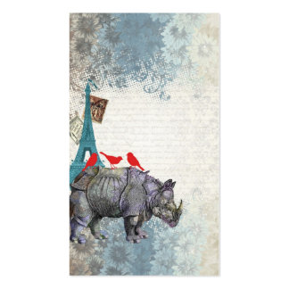 Vintage rhino business card template